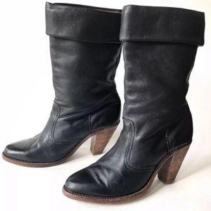 Vintage Dexter Women's Boots Black 7.5 Leather